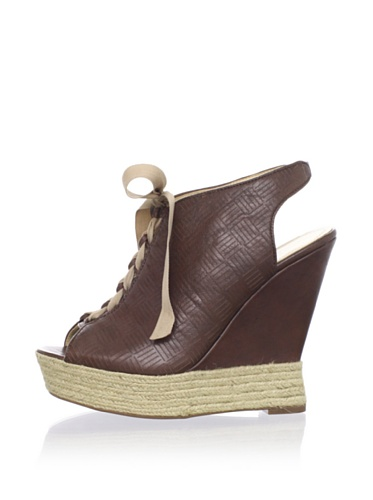 Luxury Rebel Women's Carlos Wedge Sandal (Light Brown)