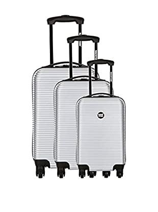 Bag Stone Set de 3 trolleys rígidos Dream Plata 66 cm
