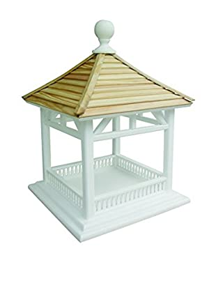 Home Bazaar Dream House Feeder, White/Natural
