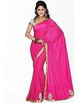 Pink Embellished Saree Saree Swarg
