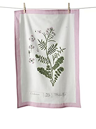 KAF Home Cardamine Flour Sack Kitchen Towel, Pink/White