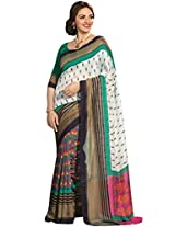 Abida Printed Multi Color Bhagalpuri Art Silk Saree