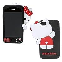 Hello Kitty(かくれんぼKT) iPhoneケース(シリコン製) ブラック IPSL4
