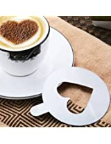 2PCS Stainless Steel Cake Art Mold Cappuccino Coffee Art Latte Mold Coffee Stencil