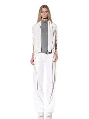 Ann Demeulemeester Women's Draped Sweater (Off-White)