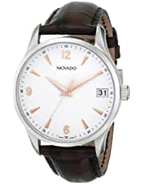 Movado Men's 0606570 Circa Stainless Steel Watch with Brown Leather Band