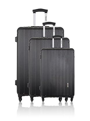 Travel ONE Set de 3 trolleys rígidos Lowe Negro