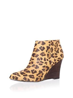 Adrienne Vittadini Women's Sarah Wedge Bootie (Leopard)