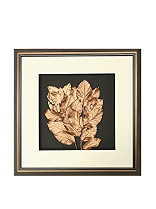 Star Creations Copper-Painted Leaves Shadowbox Art