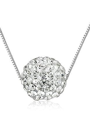 WISHLIST Halskette BLACK PINK rhodiniertes Silber 925