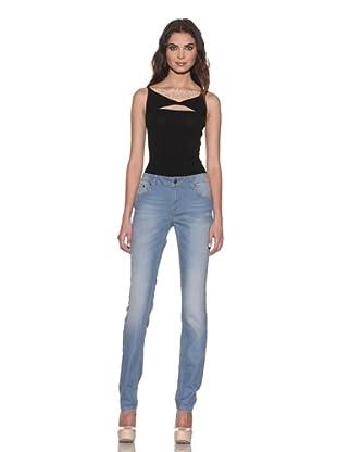 RED Valentino Women's Stretch Skinny Jeans (Sky Blue)