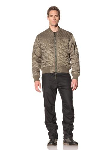 Maharishi Men's Diamond Quilted Aviator Tour Jacket (Maha Olive)