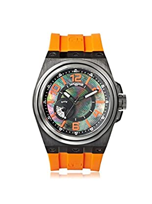 Lancaster Men's OLA0623BK/NRAR Homage Orange/Black Stainless Steel Watch