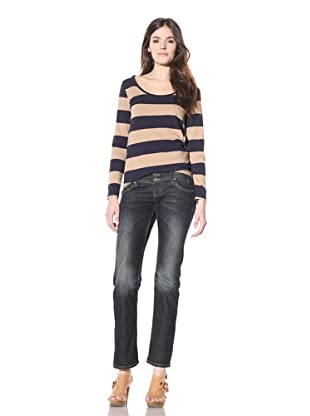 M.O.D Miracle of Denim Women's Steffi Slim Fit Straight Leg Jean (Pacific Blue)