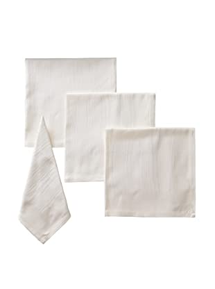 Garnier-Thiebaut Set of 4 Elm Napkins, Ivory