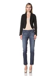 David Kahn Women's Lana Cuffed Crop Jean (Jukebox)