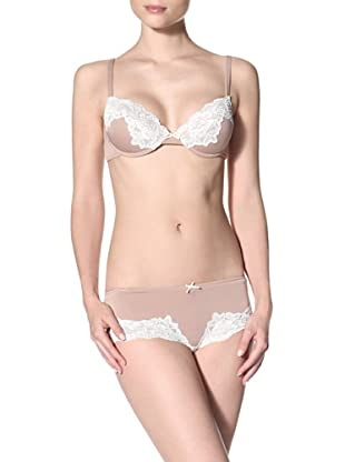 Blush Lingerie Women's Sweet Liberty Push-Up Bra (Almond Taupe)