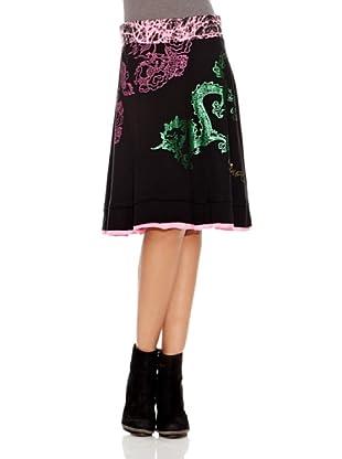 Desigual Falda Tere (Negro Estampado)