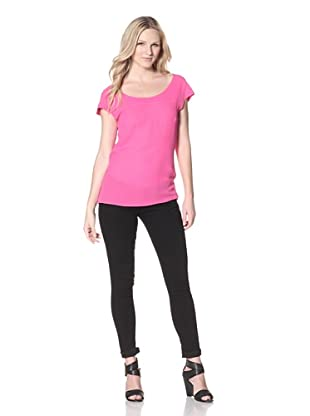AS by DF Women's Lulu Cutout Top (Shocking Pink)