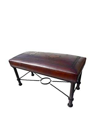 New World Trading Fernando Iron Bench, Antique Brown