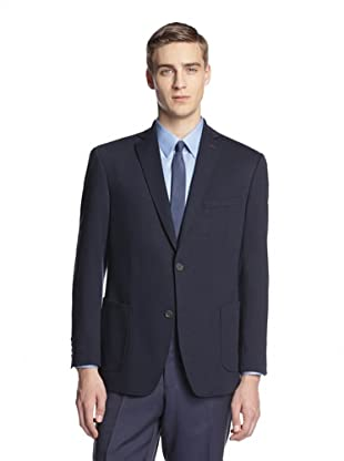 Calvin Klein Men's Mancini Two Button Knit Blazer (Navy)