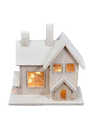Snow Home Birdhouse with Light
