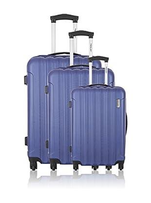 Travel ONE Set de 3 trolleys rígidos Crewed Azul