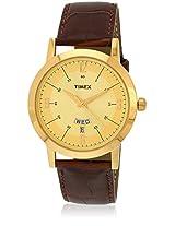Ti000T115 Brown/Golden Analog Watch