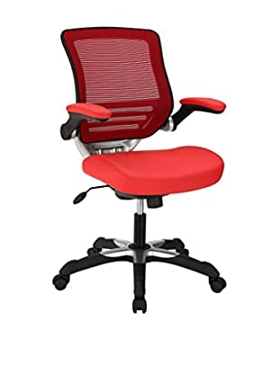 Modway Edge Vinyl Office Chair, Red