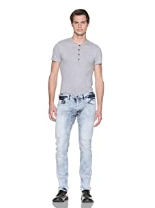 French Connection Men's Rum Col Denim (Bleach Out)