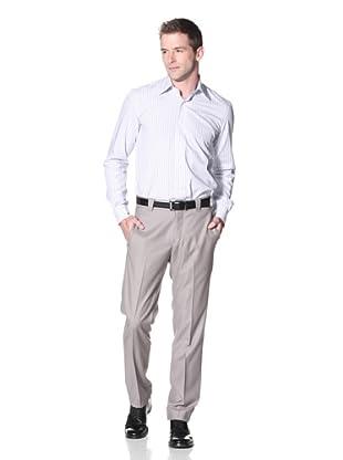Incotex Ivory Men's Wool Flat Front Trouser (British Tan)