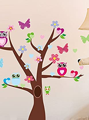 Ambiance Sticker Wandtattoo Tree And Butterflies On A Tree