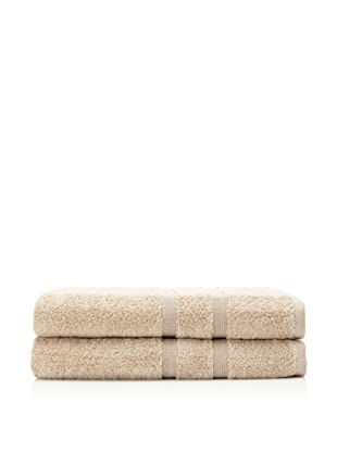 Esplama 2-Piece Mandarin Bath Sheet Set, Khaki Taupe, 35