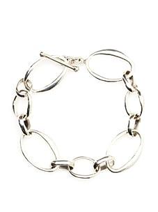 Argento Vivo Oval Link Bracelet, Silver