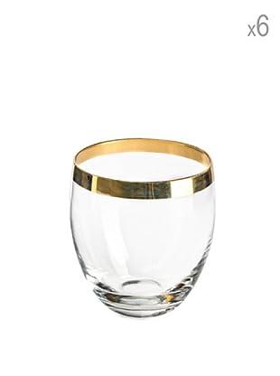 Set 6 Bicchieri Acqua Elegance Gold