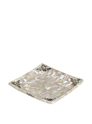 Neda Behman Mother of Pearl & Sterling Silver Square Dish