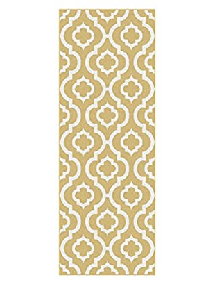 Universal Rugs Metro Contemporary Runner, Yellow, 3' x 8'