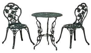 タカショー テーブルセット(AS)青銅色(テーブル1台、チェアー2脚)