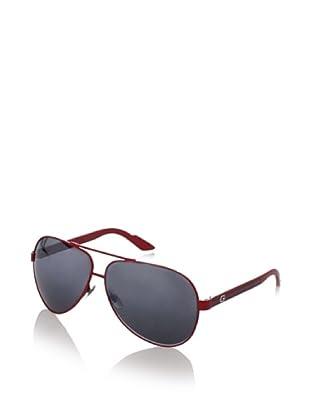 Gucci Men's GG 1951/S Aviator Sunglasses (Red/Dark Grey)