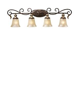 Trump Home Regency 4-Light Vanity in Burnt Bronze