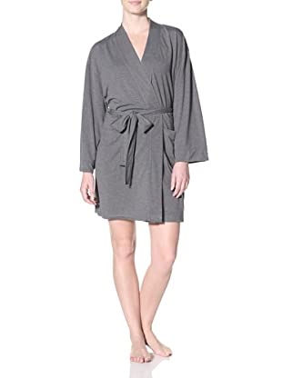 Aegean Apparel Women's Robe with Pockets (Charcoal)