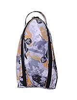 Shoe bag -Black-Polyester- Splash Printed Bag -By Bagsrus