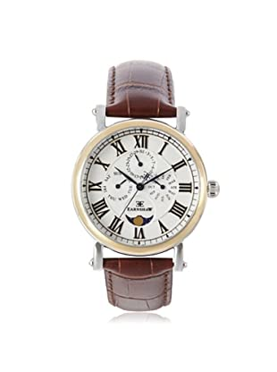 Earnshaw Men's 8031-02 Maskelyne Brown/White Stainless Steel Watch