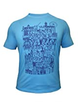 Peter England Sky Blue T-Shirt
