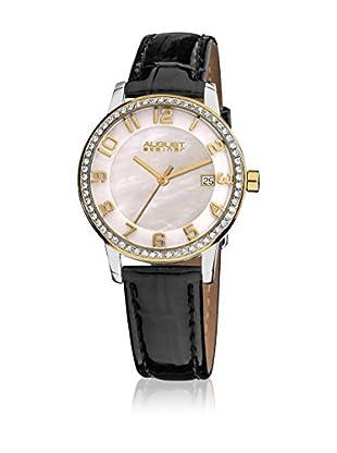 August Steiner Reloj con movimiento cuarzo suizo Woman AS8056YG Negro 42 mm