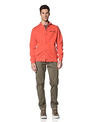 Maharishi Men's Classic Lock Cardigan (Aztec Orange)