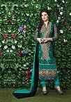 Viva N Diva Black Color Georgette Straight Cut Salwar Suit - 3002