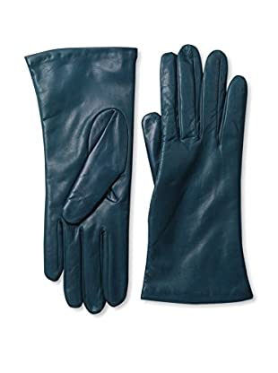 Portolano Women's Cashmere Lined Leather Gloves (Midnight Teal)