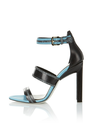 JASON WU Women's Raquel Ankle Strap Sandal (Black/Blue)