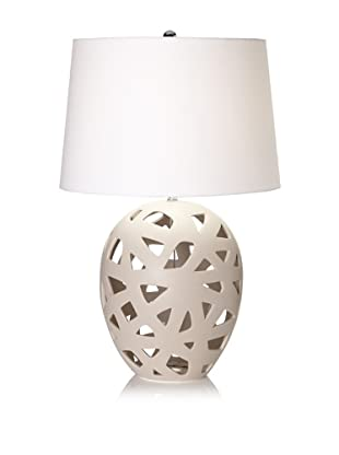 Lamp Works Bisque Ceramic Table Lamp (Taupe)